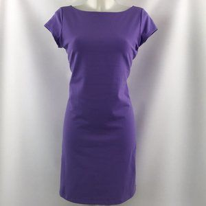 Susana Monaco Purple Short Sleeve Dress Size Large